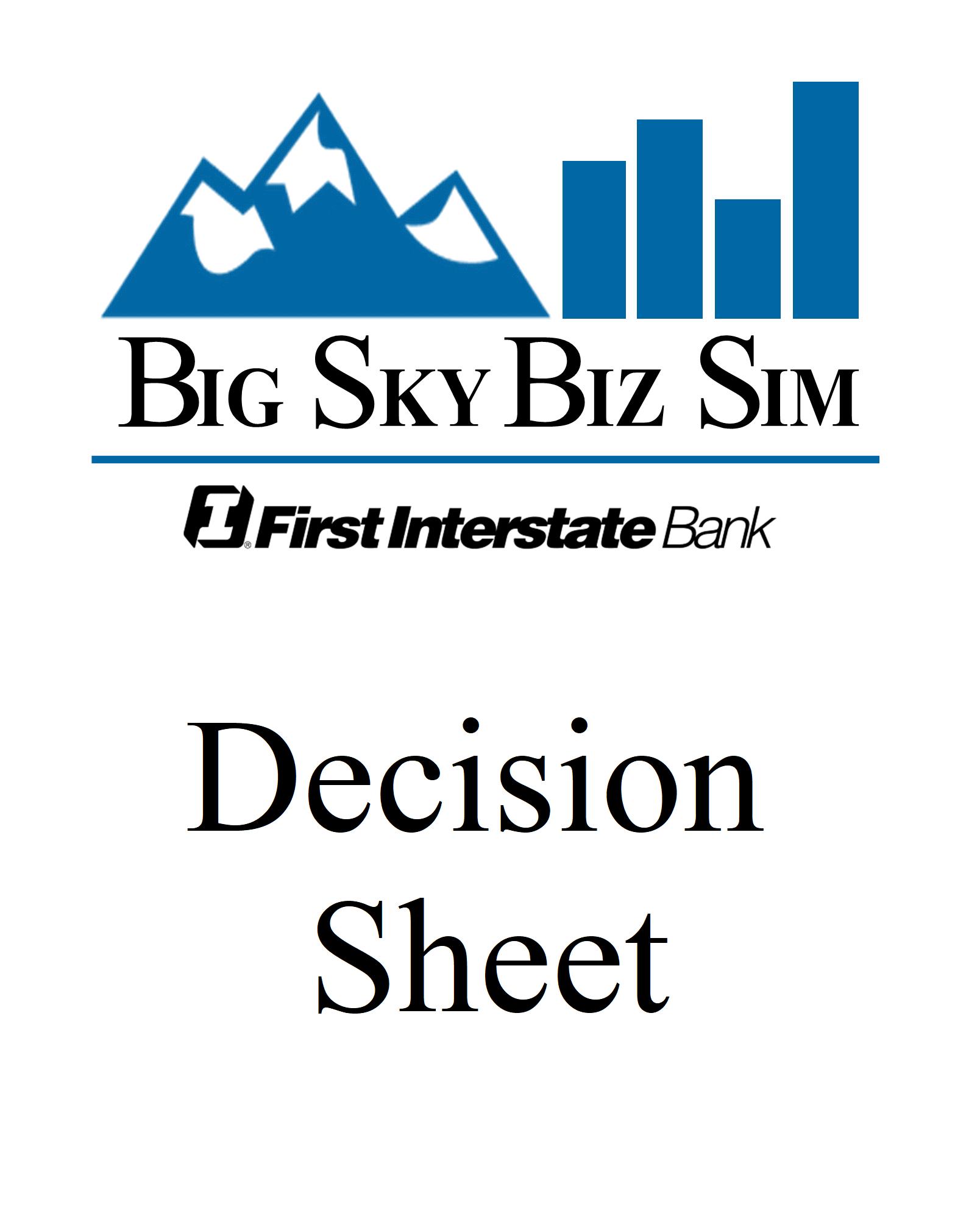 Decision Sheet